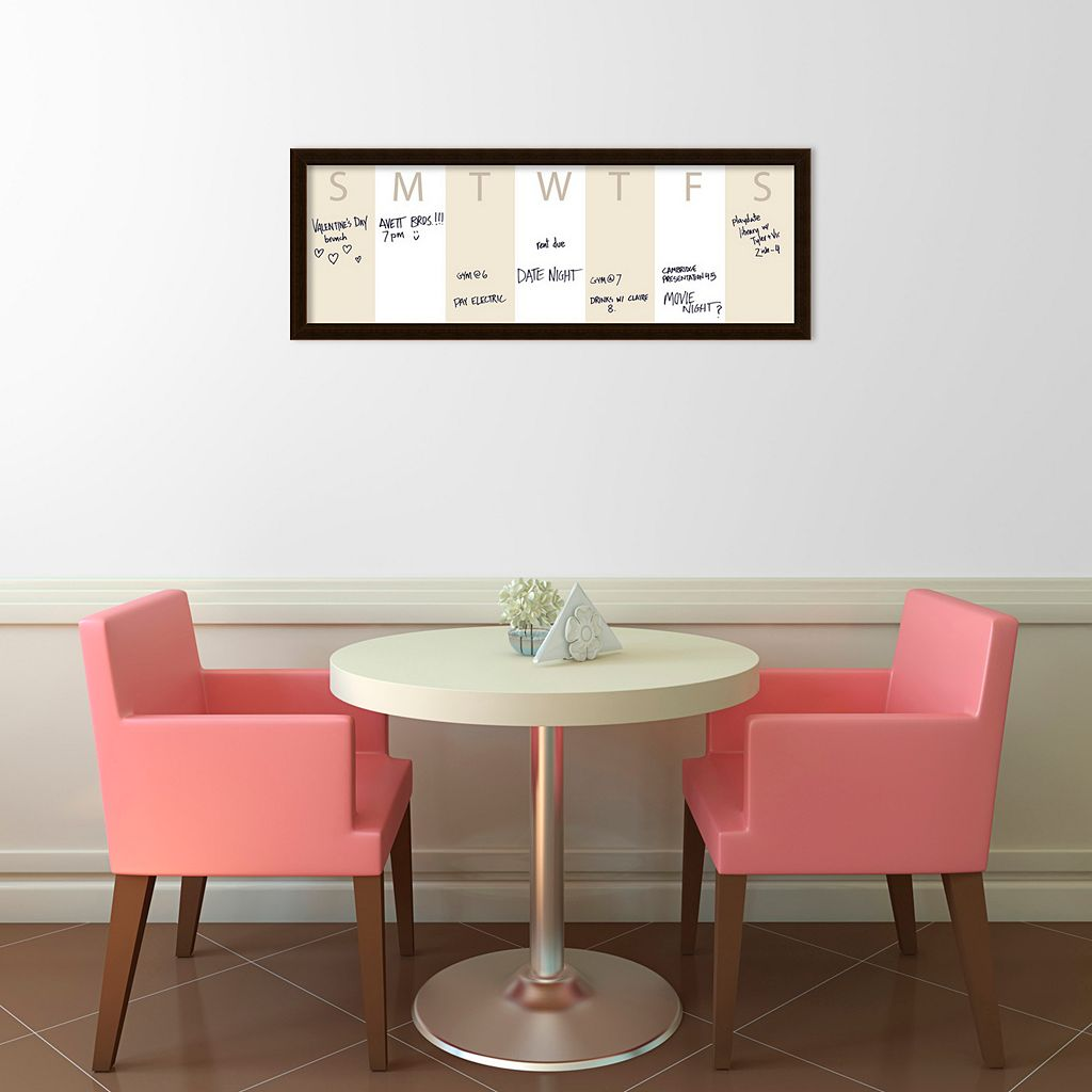Amanti Art Horizontal Dry Erase Week Calendar Wall Decor