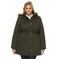 Plus Size Apt. 9® Hooded Anorak Parka
