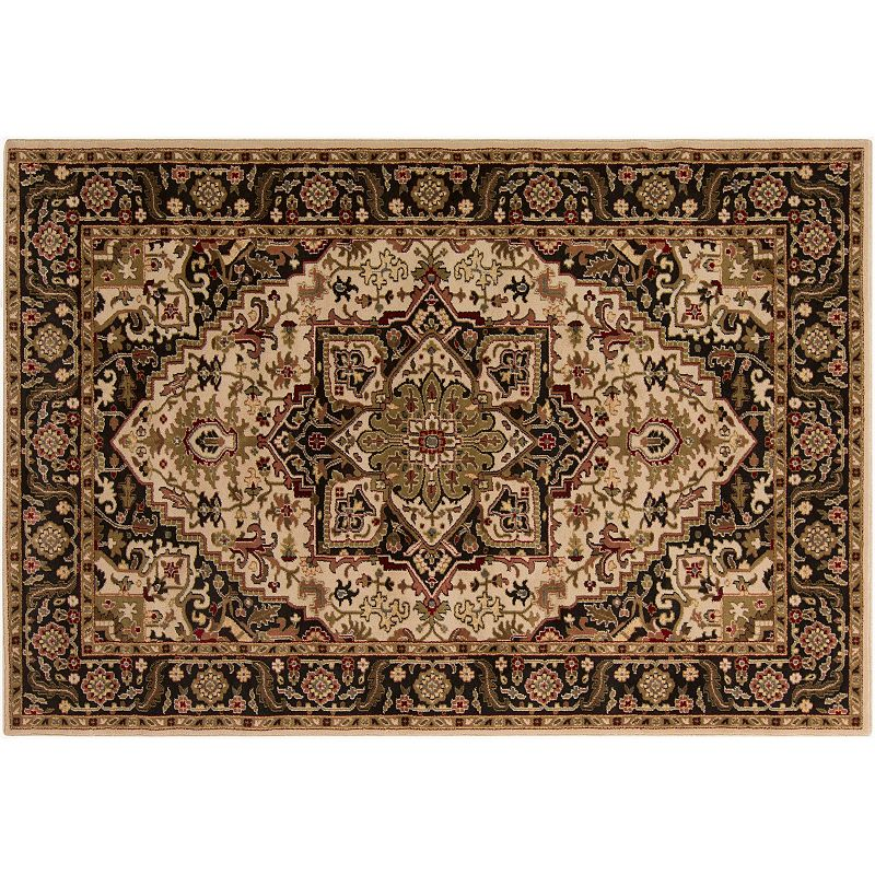 Decor 140 Sai Classic Framed Floral Rug, Green, 5X7.5 Ft