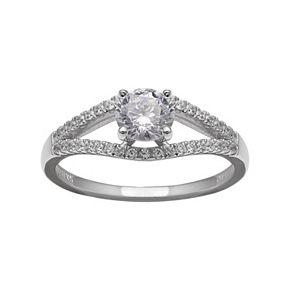 PRIMROSE Sterling Silver Cubic Zirconia Ring