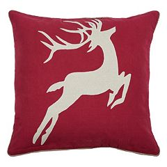 Rizzy Home Deer Throw Pillow