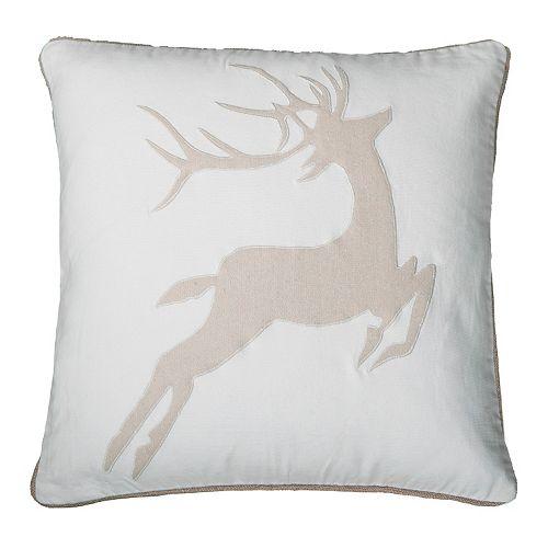 Rizzy Home Deer Throw Pillow