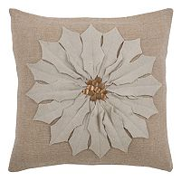 Rizzy Home Floral Throw Pillow