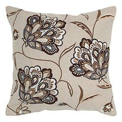 Rizzy Home Pieced Floral Throw Pillow