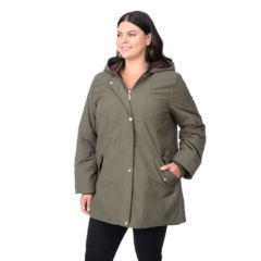 Plus Size Apt. 9® Hooded A-Line Parka