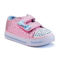 Skechers Twinkle Toes Shuffles Starlight Style Toddler Girls' Light-Up Sneakers