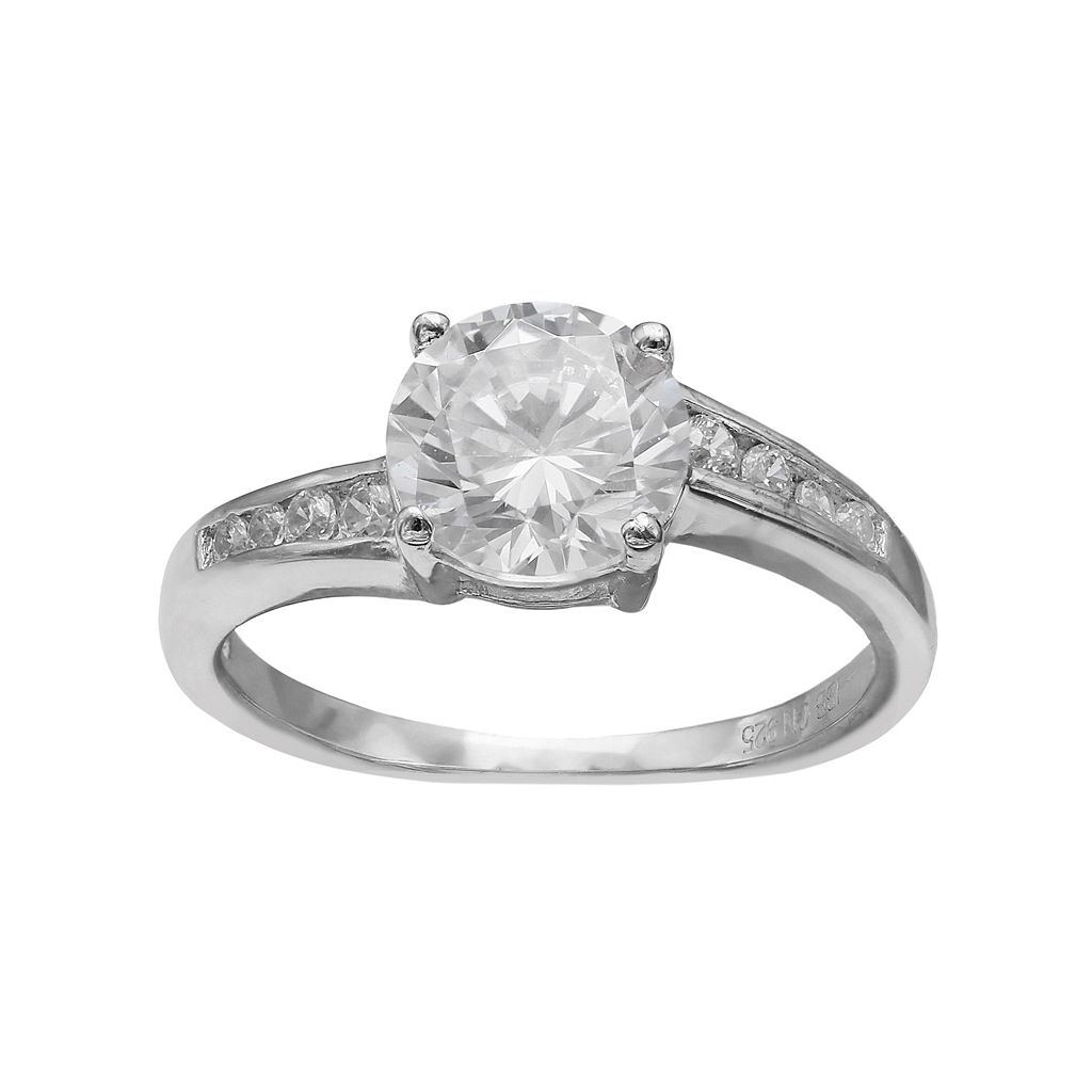 PRIMROSE Sterling Silver Cubic Zirconia Ring