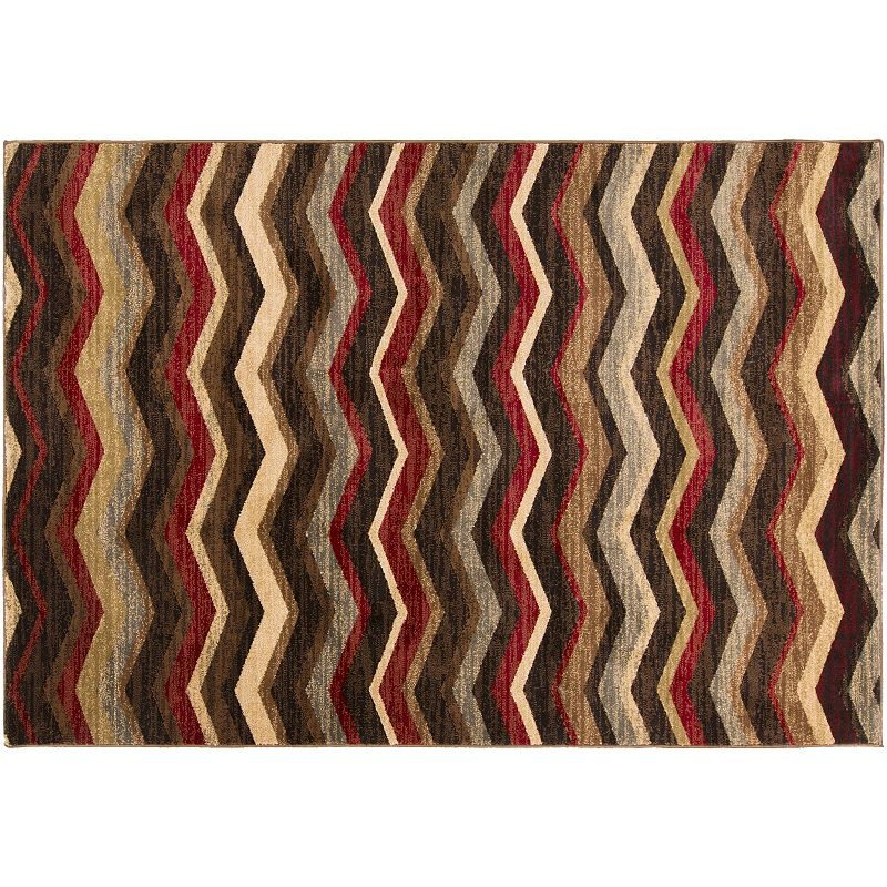 Decor 140 Kiruna Chevron Rug, Black, 2X3 Ft