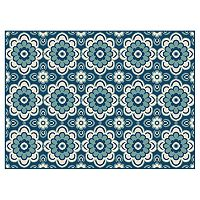 KHL Rugs Garden City Tiffany Floral Indoor Outdoor Rug