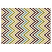 KHL Rugs Garden City Tyler Chevron Indoor Outdoor Rug
