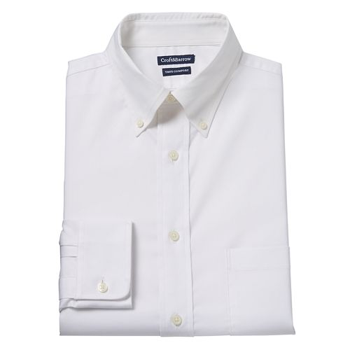 Men's Croft & Barrow® Easy-Care True Comfort Regular-Fit Stretch Dress Shirt