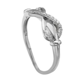PRIMROSE Sterling Silver Cubic Zirconia Infinity Ring