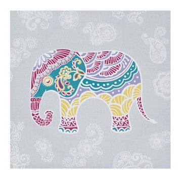 Mi Zone Elly the Elephant Canvas Wall Art