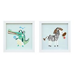 Mi Zone Kids Jungle Josh 1 Framed Wall Art 2-piece Set