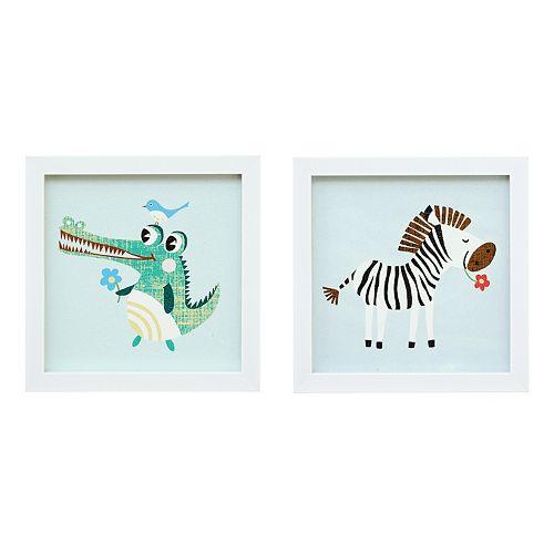 Mi Zone Kids Jungle Josh 1 Framed Wall Art 2-piece Set