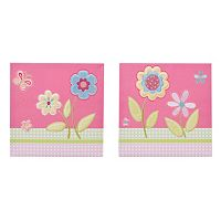 Mi Zone Kids Flower Power Embroidery Wall Art 2 pc Set