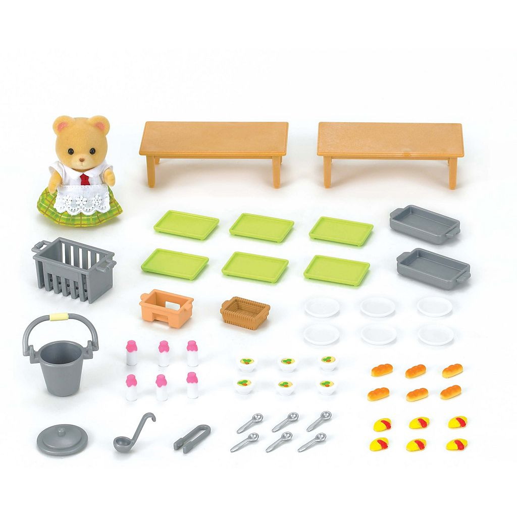 Calico Critters School Lunch Set