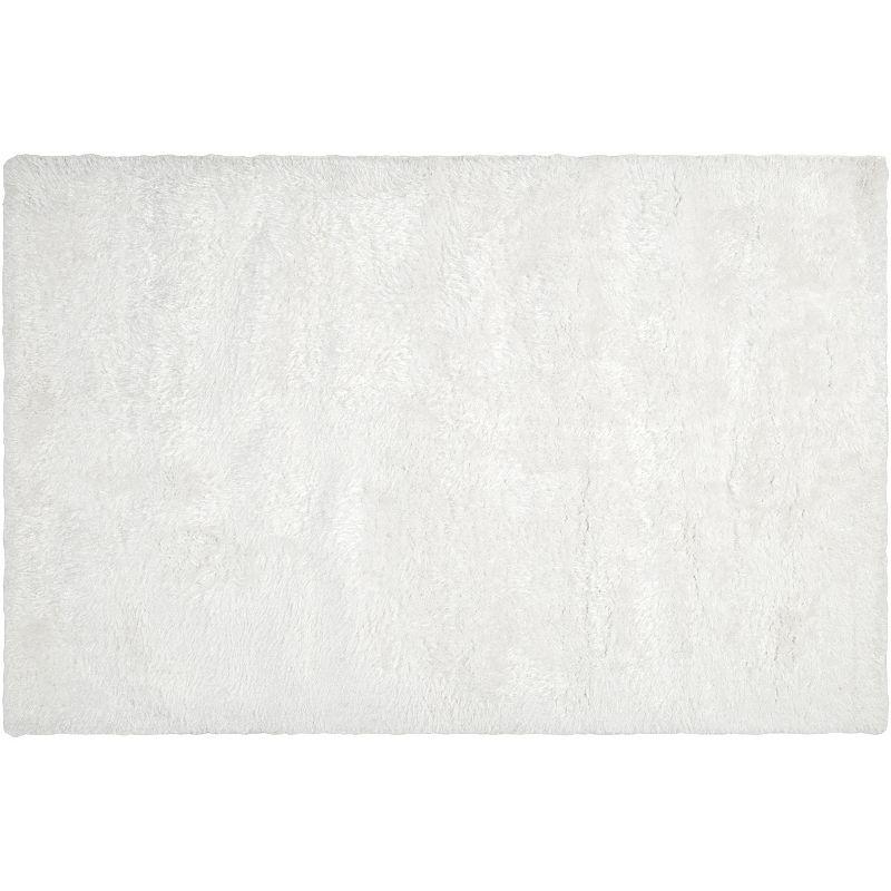 Decor 140 Villa Solid Shag Rug, White, 5X8 Ft
