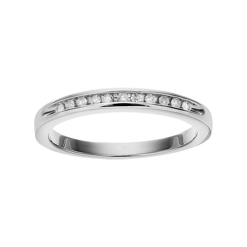 I Promise You Sterling Silver 1/10 Carat T.W. Diamond Promise Ring