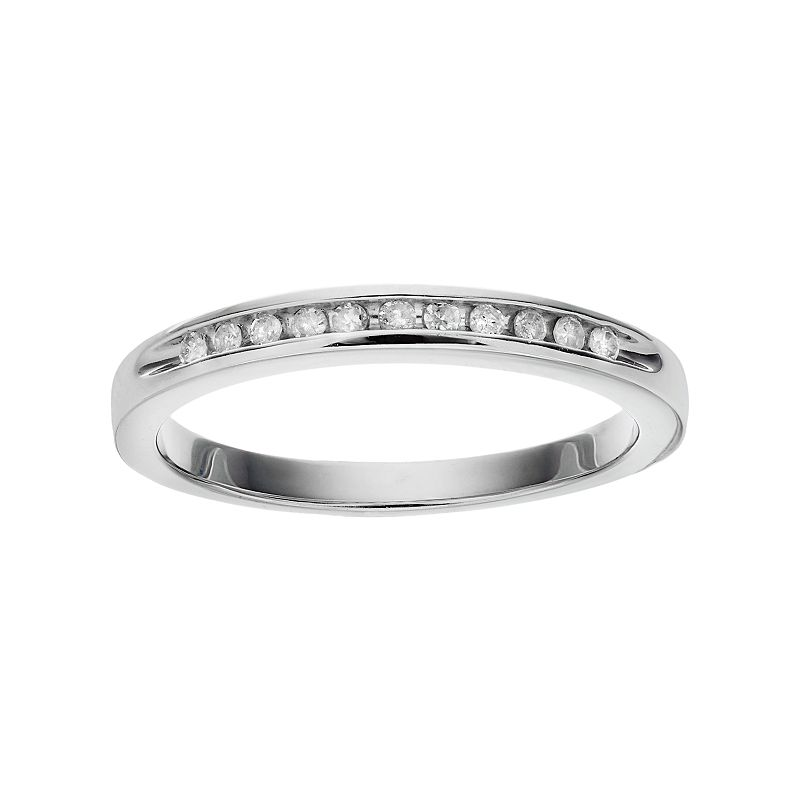 I Promise You Sterling Silver 1/10 Carat T.W. Diamond Promise Ring, Women's, Size: 7, White
