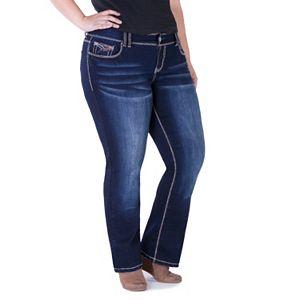 Juniors' Plus Size Series 31 Dark Wash Bootcut Jeans
