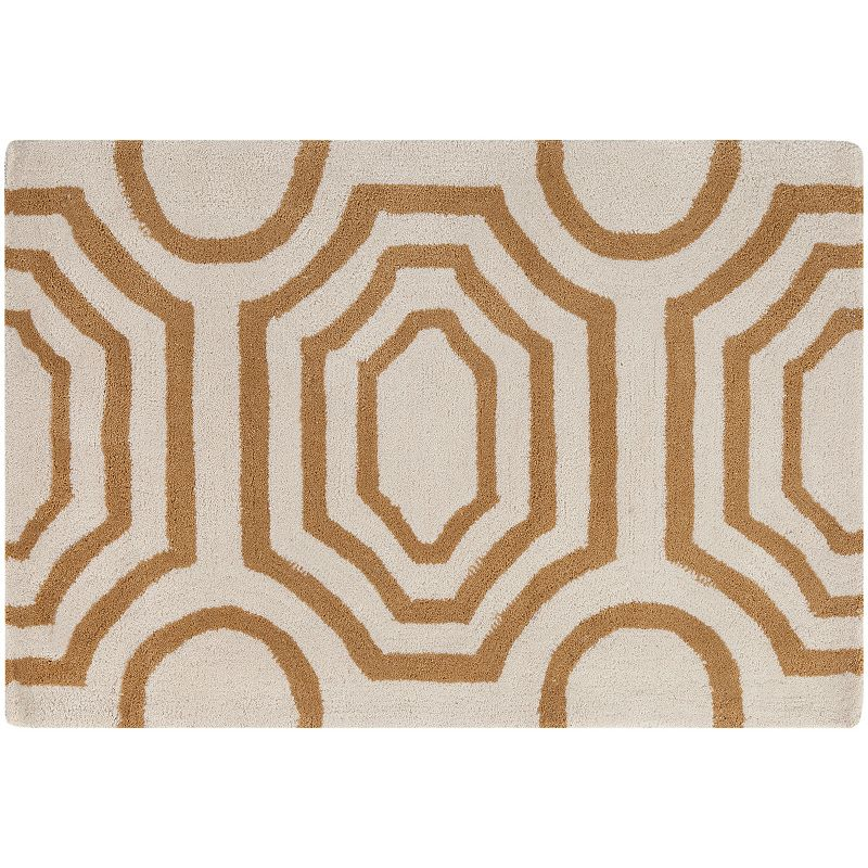 Decor 140 Grado Geometric Rug, Brown, 8X10 Ft