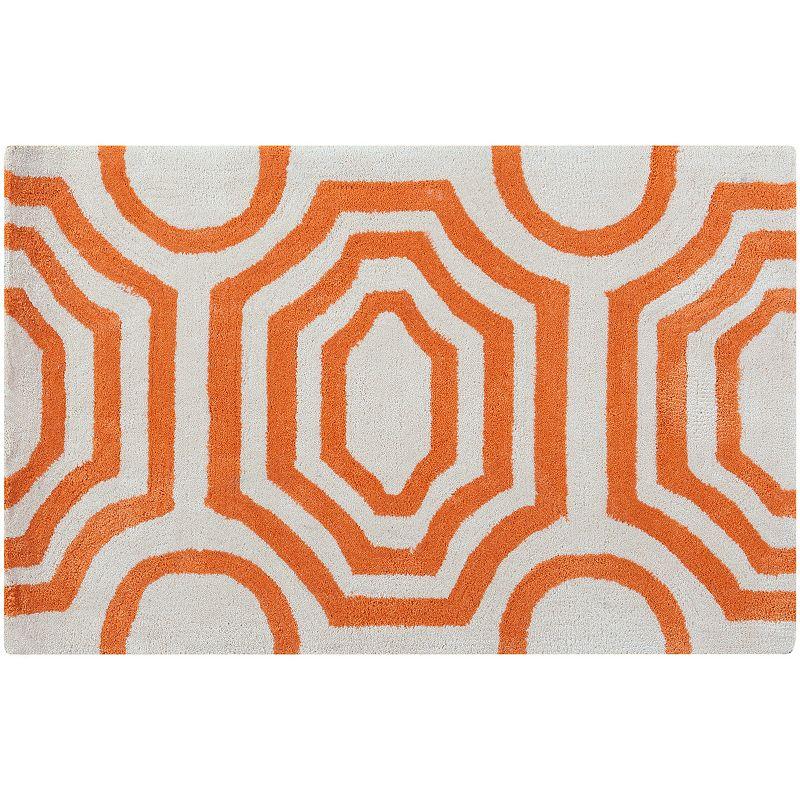 Decor 140 Grado Geometric Rug, Orange, 2.5X8 Ft