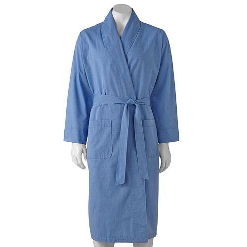 Big & Tall Hanes Lightweight Woven Shawl Robe