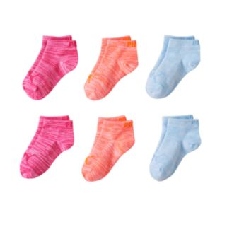 Girls PUMA 6-pk. Low Cut Space-Dyed Socks