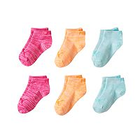 Girls PUMA 6-pk. Low Cut Space-Dyed Socks