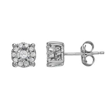 10k White Gold 1/4 Carat T.W. Diamond Stud Earrings