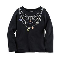 Girls 4-8 Carter's Necklace Halloween Tee