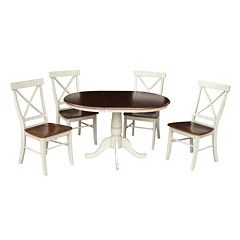 International Concepts 36' Round Dining Table 5 pc Set