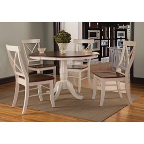 """International Concepts 36"""" Round Dining Table 5-piece Set"""