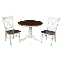 International Concepts 36' Round Dining 3-piece Set