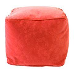 Small Microfiber Faux-Suede Bean Bag Ottoman
