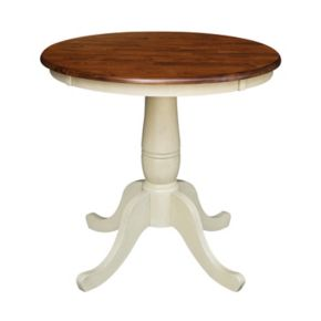 "International Concepts 30"" Tall Round Pedestal Dining Table"