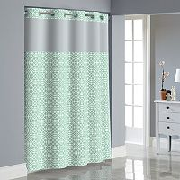 Hookless Medallion Shower Curtain with Liner