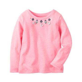 Girls 4-8 Carter's Tassel Necklace Pink Top