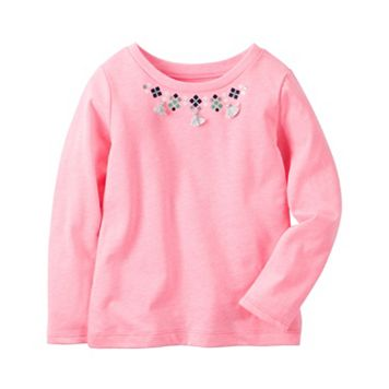 Girls 4-8 Carter's Tassel Necklace Pink Top