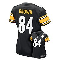 Women's Nike Pittsburgh Steelers Antonio Brown Game NFL Replica Jersey