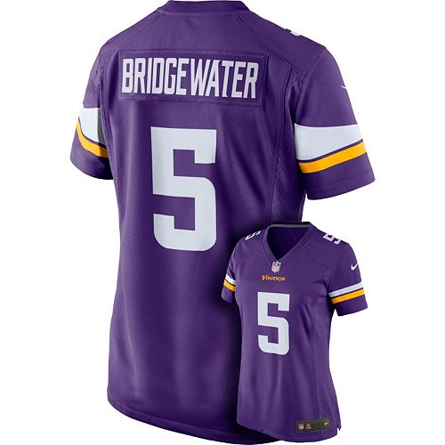 new concept acb1b dc242 Women's Nike Minnesota Vikings Teddy Bridgewater Game ...