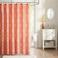 Intelligent Design Elena Microfiber Printed Shower Curtain