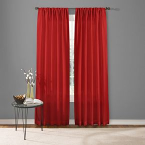 Custom Home 1-Panel Two Tone Window Curtain