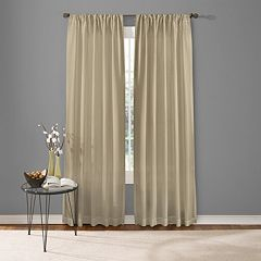 Custom Home 1-Panel Two Tone Window Curtain