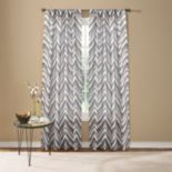 Custom Home Painted Chevron Window Curtain