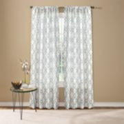 Custom Home 1-Panel Fretwork Window Curtain