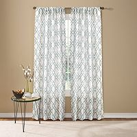 Custom Home Fretwork Window Curtain