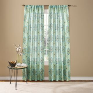 Custom Home 1-Panel Hannah Medallion Window Curtain