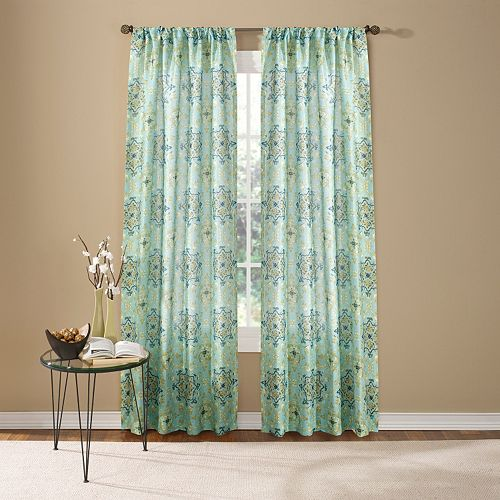 Custom Home 1-Panel Hannah Medallion Window Curtain